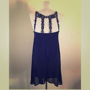 Francesca's Flowy Black Dress with Back Detail